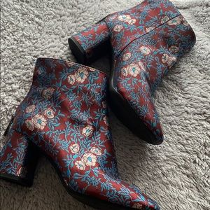Gianni Bini Floral Booties